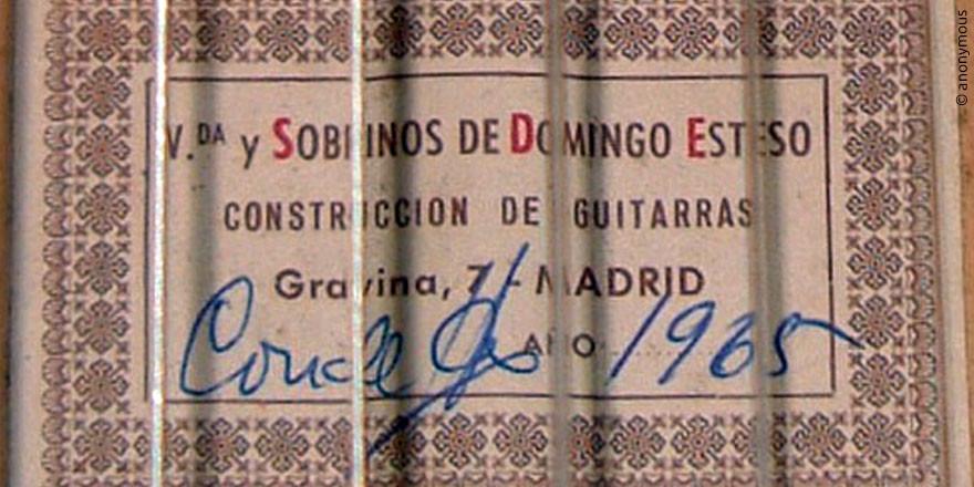 HERMANOS CONDE - SOBRINOS DE ESTESO 1965 - LABEL - ETIKETT - ETIQUETA
