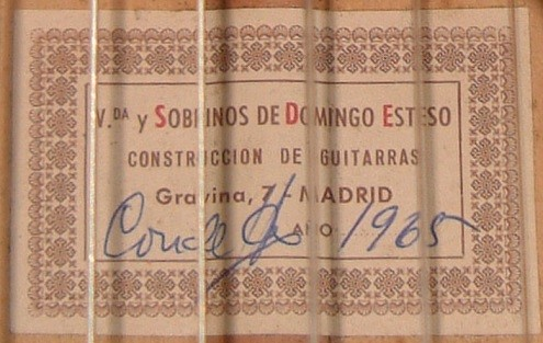 VIUDA Y SOBRINOS DE DOMINGO ESTESO - 1965 -Label-Etikett - Guitar 1 - Photo 4