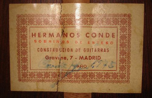 Hermanos Conde 1975 - Guitar 2 - Photo 3