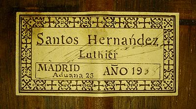 Santos Hernandez 1938 - Guitar 1 - Photo 5