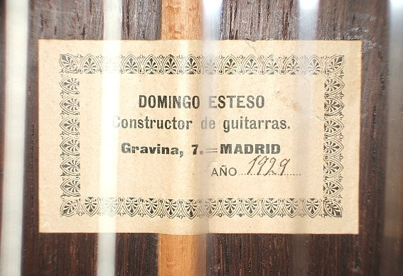 Domingo Esteso 1929 - Guitar 1 - Photo 5