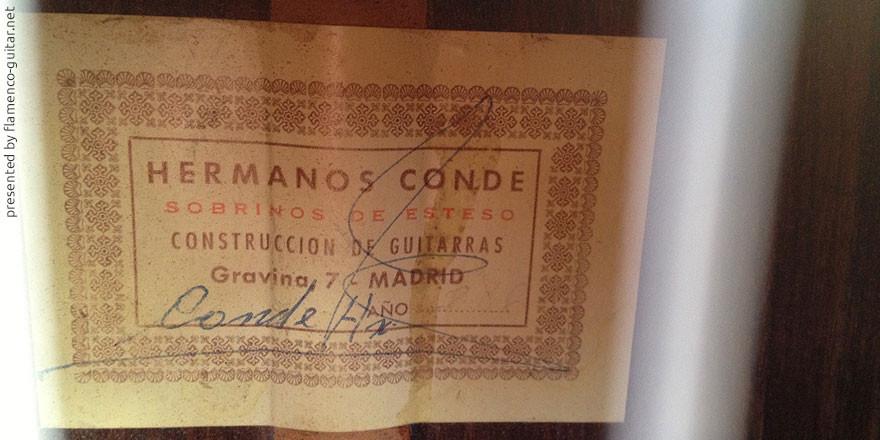 HERMANOS CONDE - SOBRINOS DE ESTESO 1986 - LABEL - ETIKETT - ETIQUETA