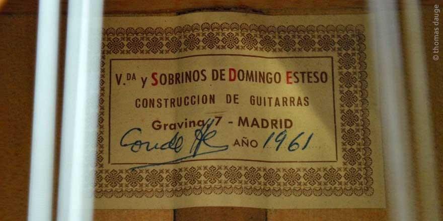 HERMANOS CONDE - SOBRINOS DE ESTESO 1961 - LABEL - ETIKETT - ETIQUETA
