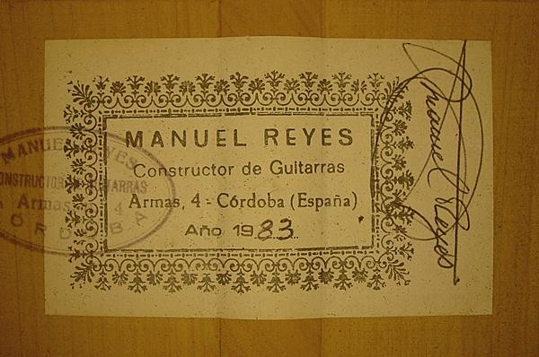 Manuel Reyes 1983 - Guitar 2 - Photo 4