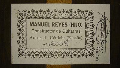 Manuel Reyes Hijo 2008 - Guitar 2 - Photo 5