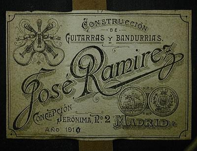 Jose Ramirez 1910 - Guitar 1 - Photo 5