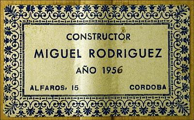 Miguel Rodriguez 1956 - Guitar 1 - Photo 2
