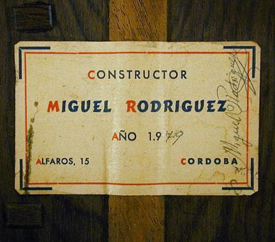 Miguel Rodriguez 1979 - Guitar 1 - Photo 5