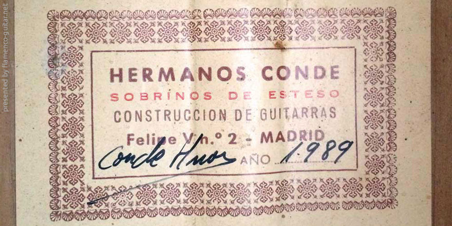 HERMANOS CONDE - SOBRINOS DE ESTESO 1989 - LABEL - ETIKETT - ETIQUETA