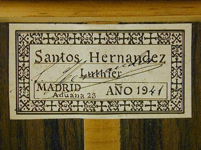 Santos Hernandez 1941 - Guitar 1 - Photo 2