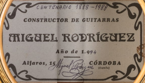 Miguel Rodriguez 1994 - Pepe Romero - Guitar 2 - Photo 3