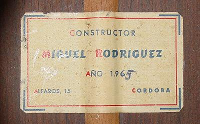 Miguel Rodriguez 1965 - Guitar 1 - Photo 4