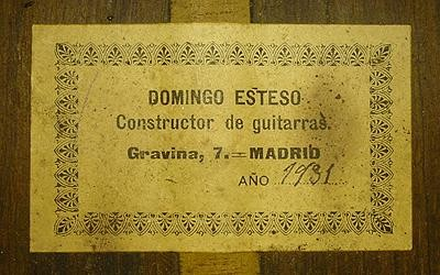 Domingo Esteso 1931 - Sabicas - Guitar 4 - Photo 4