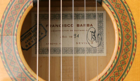 Francisco Barba 1991 - Guitar 1 - Photo 4