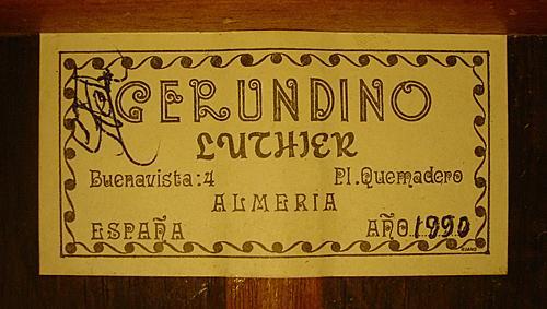 Gerundino Fernandez 1990 - Guitar 1 - Photo 4