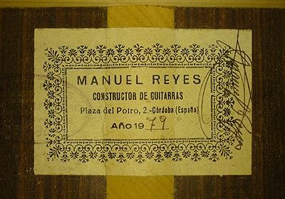 Manuel Reyes 1979 - Guitar 1 - Photo 5