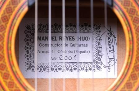 Manuel Reyes Hijo 2001 - Guitar 1 - Photo 3