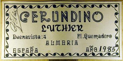Gerundino Fernandez 1985 - Guitar 1 - Photo 3