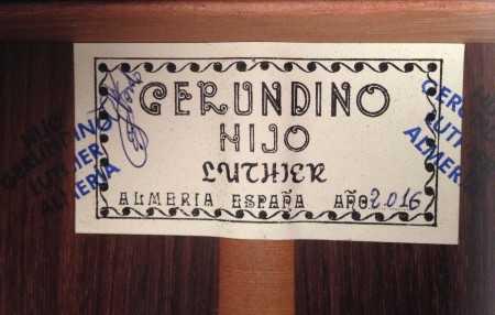 Gerundino Fernandez Hijo 2016 - Guitar 1 - Photo 6