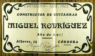 Miguel Rodriguez 1993 - Guitar 2 - Photo 3