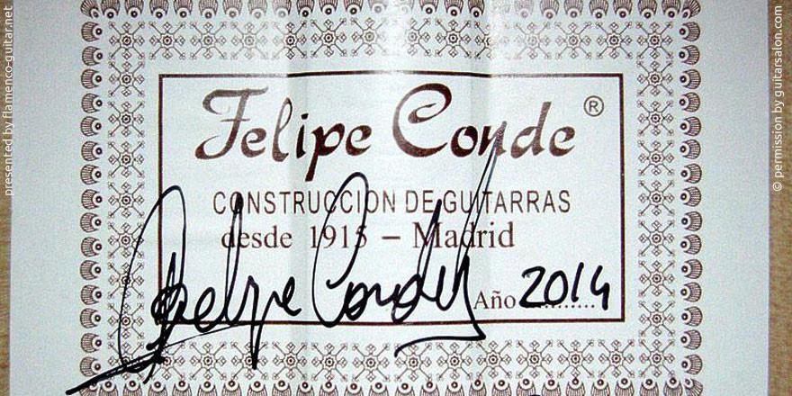 HERMANOS CONDE - FELIPE CONDE 2014 #2 - LABEL - ETIKETT - ETIQUETA