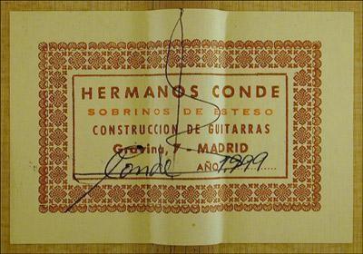 Hermanos Conde - Sobrinos de Esteso - 1999 - Guitar 4 - Photo 1
