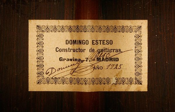Domingo Esteso 1925 - Guitar 1 - Photo 6