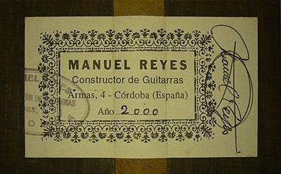 Manuel Reyes 2000 - Guitar 3 - Photo 4