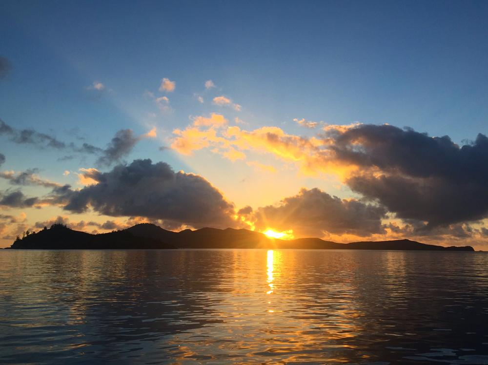 Sonnenaufgang auf der Prima.