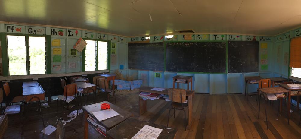 Ein Klassenraum der örtlichen Schule.