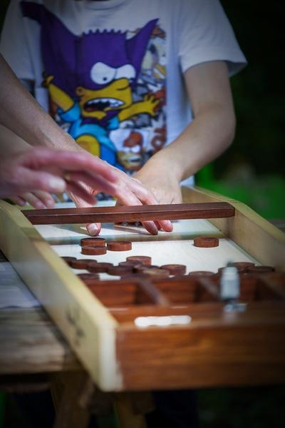 jeux de règle en grand format, en bois ...
