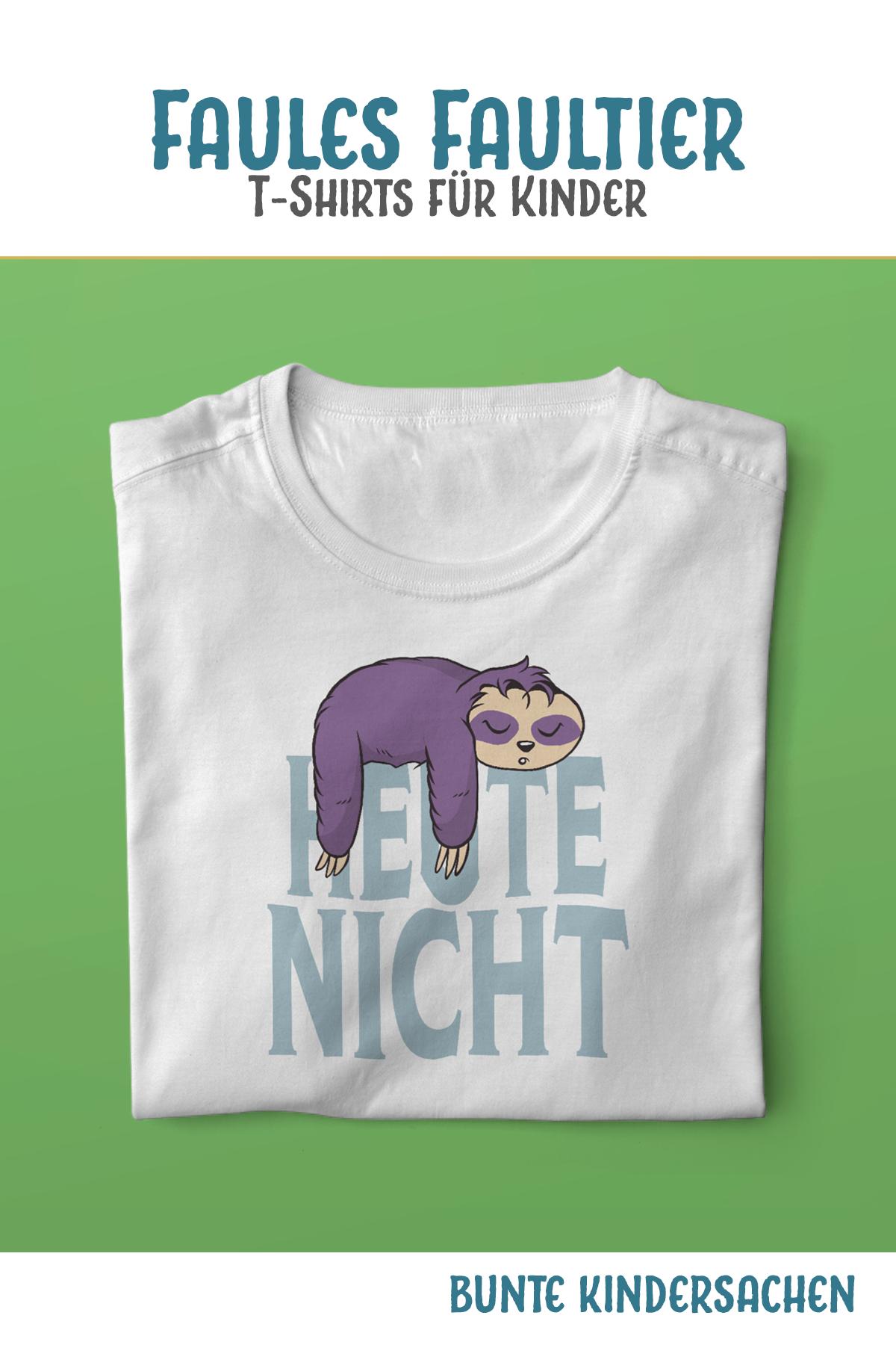 Kinder T-Shirt faules Faultier