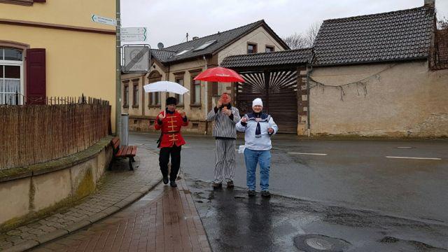 Ein kurzer Regenschauer schreckte uns nicht ab.
