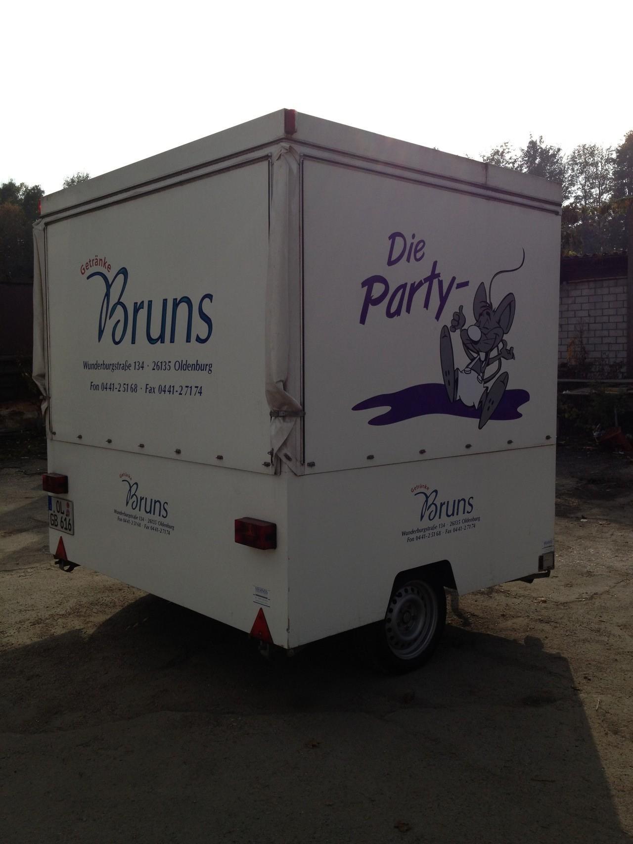 Schankwagen Partymaus mit jedem PKW zu transportieren