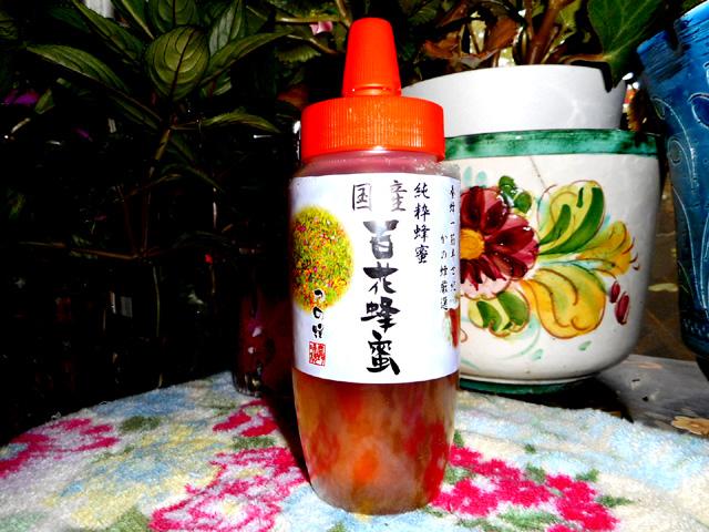 こちらは、かの蜂の百花純粋蜂蜜。