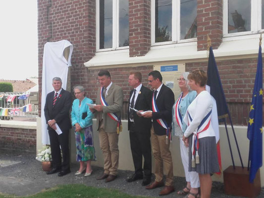24 juillet- Dernancourt- inauguration du chemin de mémoire australien