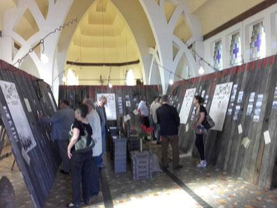 24 juin - église de Thiepval - inauguration de l'exposition la grande ligne du temps du Pays du Coquelicot
