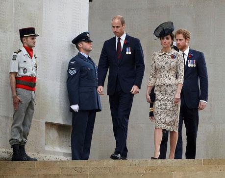 1er juillet- Thiepval - Cérémonie du Centenaire de la Bataille de la Somme en présence de la famille royale au mémorial franco-britannique (crédit photo : avec l'aimable autorisation de la CWGC)