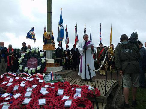 1er juillet- La boisselle- trou de mine- cérémonie du Centenaire de la Bataille de la Somme