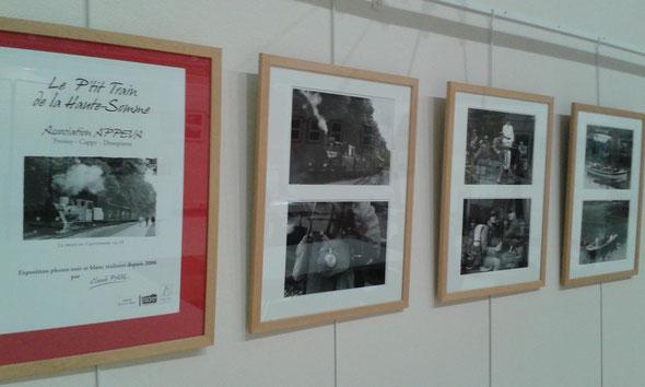 """Albert-Office de tourisme du 11 janvier au 18 février- expo photos en noir et blanc par Monsieur Claude Paul """"le train du Centenaire"""""""