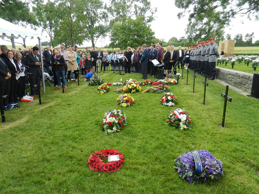 1er juillet- Fricourt- cérémonie du centenaire de la Bataille de la Somme au cimetière allemand