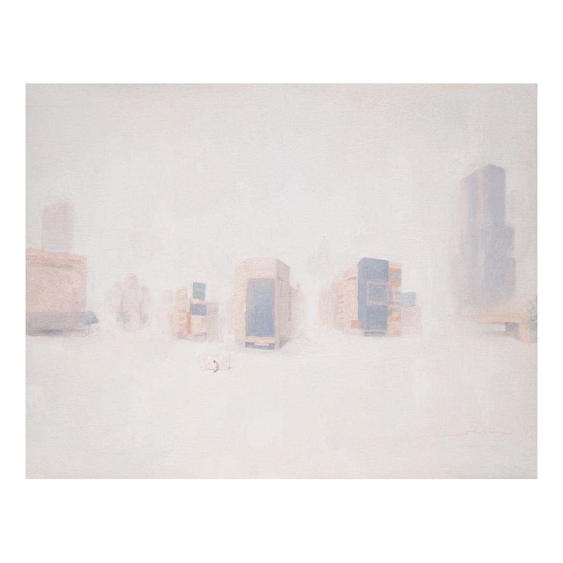 """""""Buildings""""  oil on canvas  31.8x41cm"""