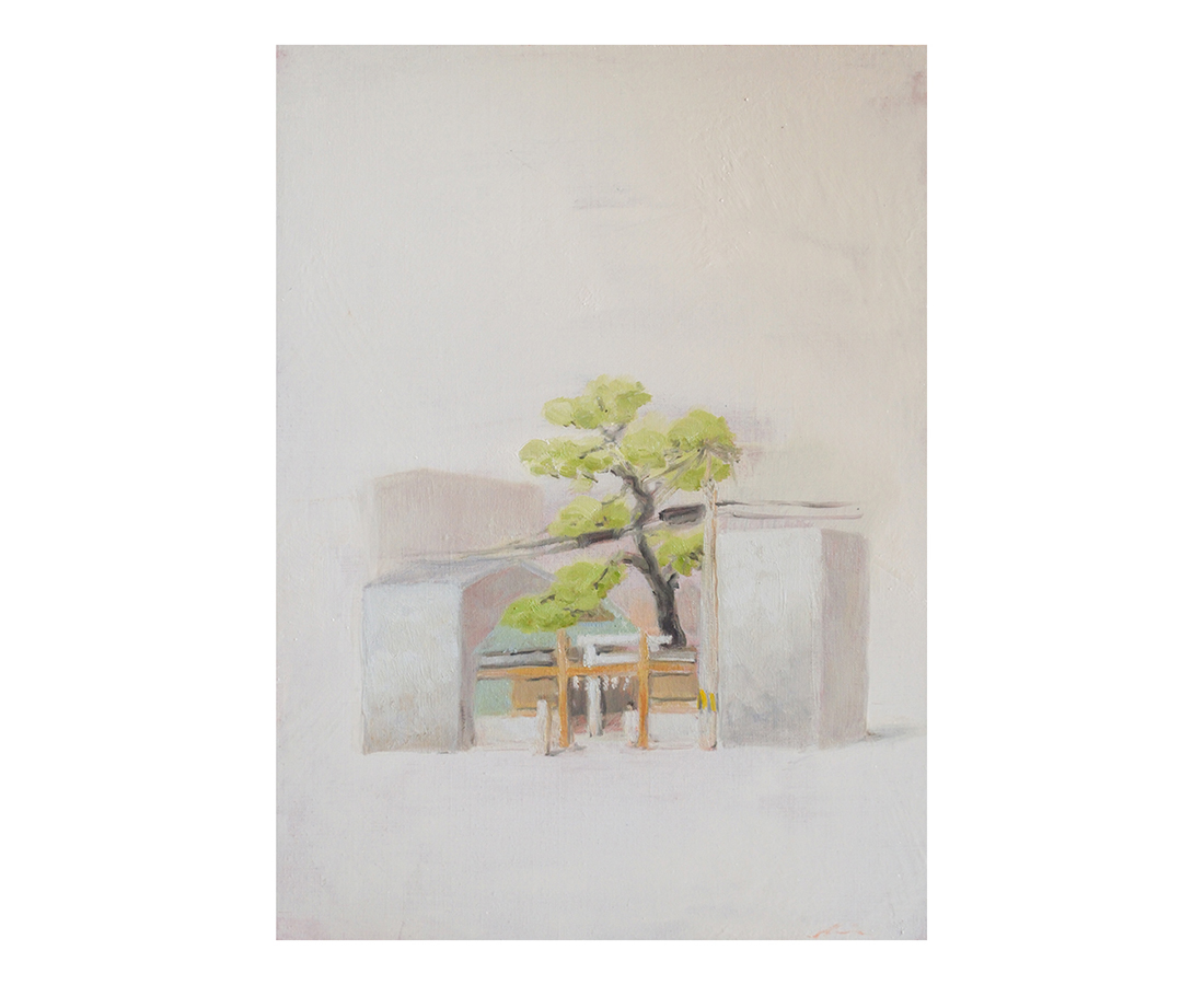 """""""Buildings of Kyoto""""  oil on canvas  33.3×45.5cm"""