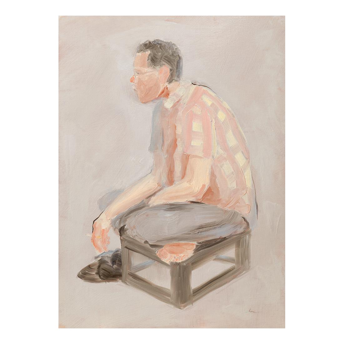 """""""Neighbor""""  oil on canvas  72.7×100cm"""