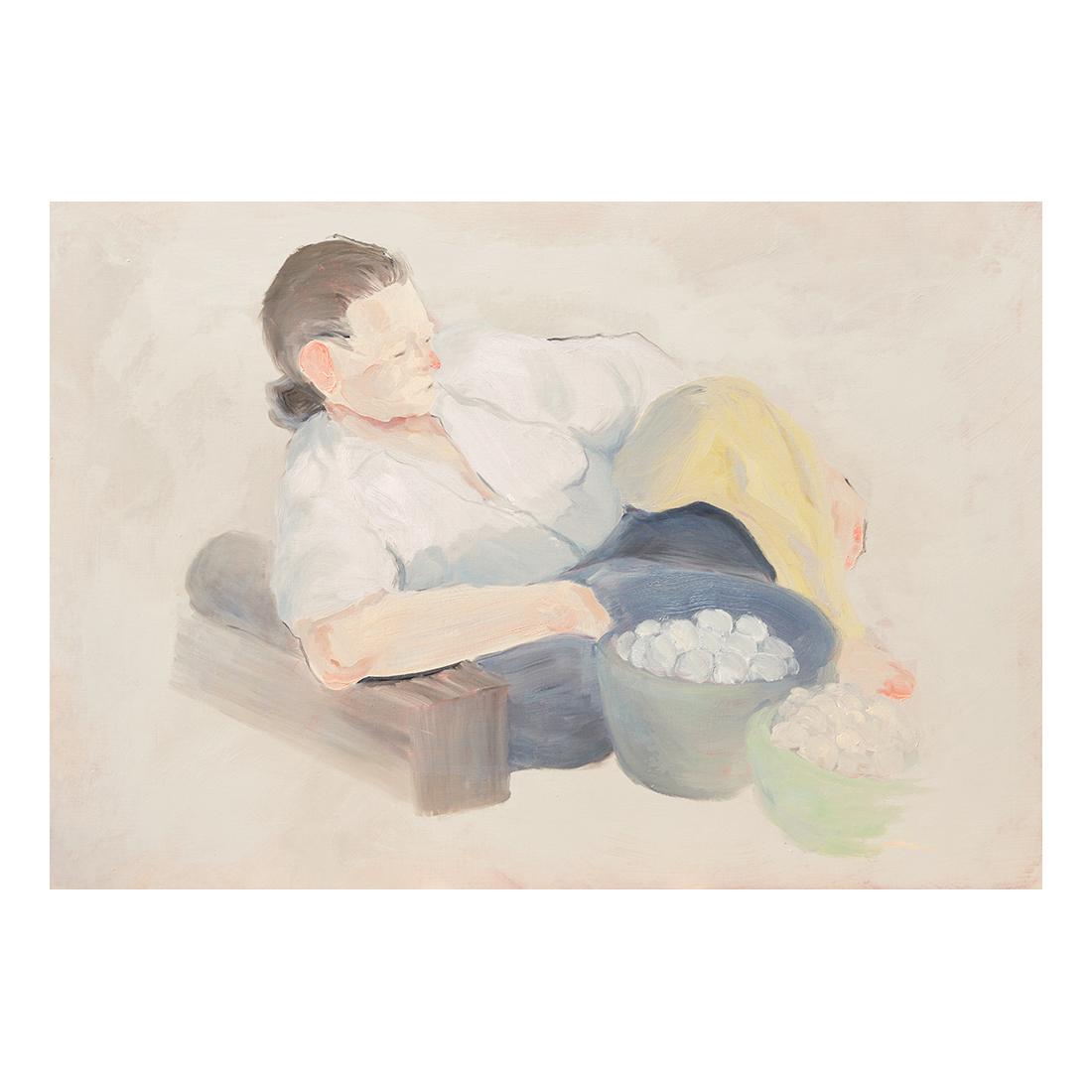 """""""Neighbor""""  oil on canvas  130.3×89.4cm"""