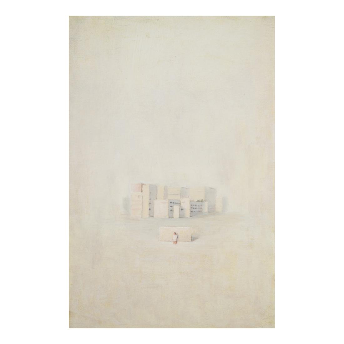 """""""Buildings""""  oil on canvas  33.3×22cm"""