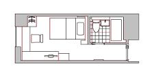 宿泊施設 シングルルーム(参考1)