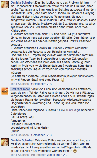 Zum kompletten Facebook-Post von Sixt: on.fb.me/1nD2iBH