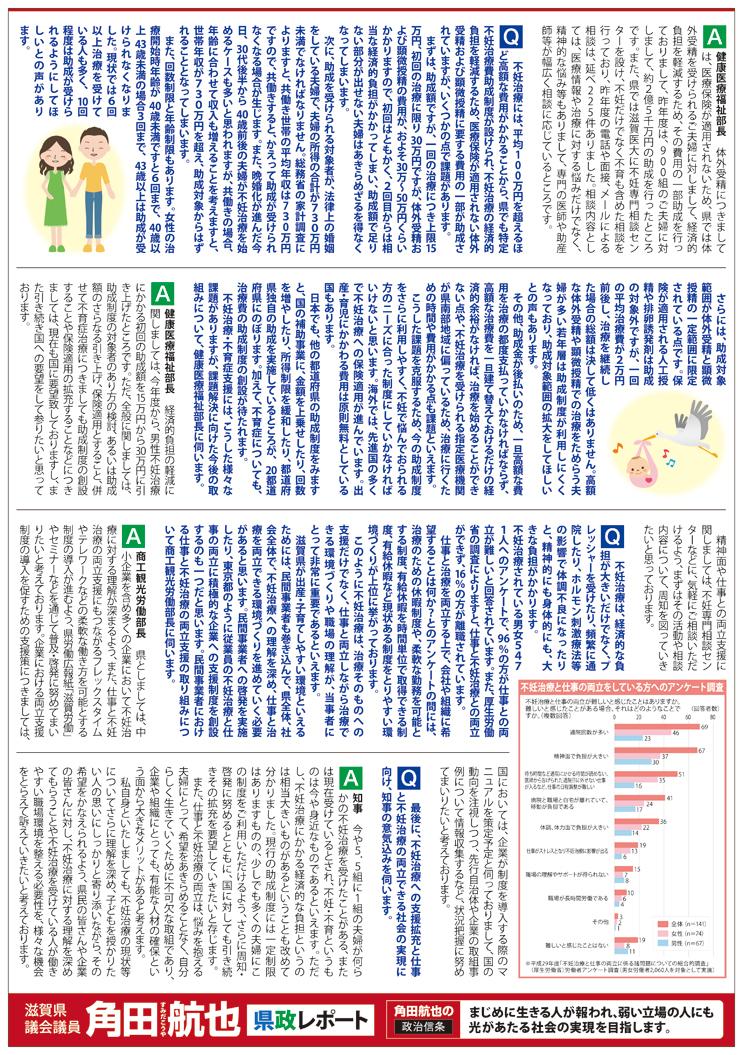 県政レポート VOL.20 裏面