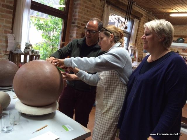 Keramik Atelier Monika Seidel, Töpfern, Kurse, Töpferkurse, Gailingen, Hochrhein, Team, Training, Teamincentives, Incentives